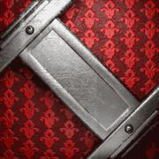 Metal on red background Stock Illustration