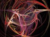 Digital fractal on black Stock Photos