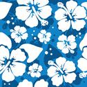 Stock Illustration of Seamless pattern with hawaiian hibiscus flower