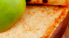 Stock Video Footage of sweet food : big thin pancake