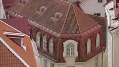 Architecture streets of Tallinn 24 - stock footage