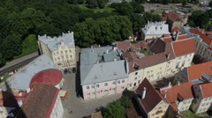 Architecture streets of Tallinn 26 Stock Footage