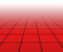 Hall spotlight red floor background Stock Illustration