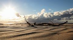 Dunes of the desert mirage. Stock Footage
