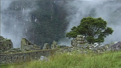 Macchu Pichu - Mystic Atmosphere at the Inca ruins in Peru - stock footage