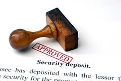 Security deposit Stock Photos