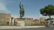Stock Video Footage of International tourists & Caesar in Rome 3 (SLOMO DOLLY)