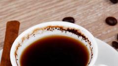 Sweet hot drink : black Turkish coffee Stock Footage