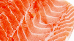 Piece of big salmon fillet Stock Footage