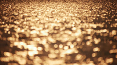 Golden water Stock Footage