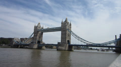 London Tower Bridge Thames River - stock footage