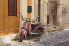 old scooter - stock photo