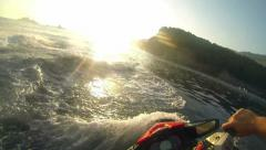 Extreme Jet Ski Driving - Operator Point of View - stock footage