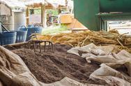 Elephant dung fertilizer ingredients. Stock Photos