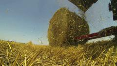 Hay Baler in Action Stock Footage