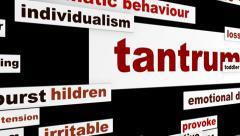Tantrum emotional behavior hd animation Stock Footage