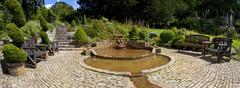 The Chalice Well Gardens in Glastonbury - stock photo