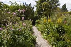 Chalice Well Gardens in Glastonbury. Stock Photos