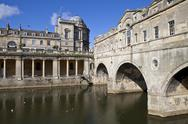 Stock Photo of Pulteney Bridge and the River Avon