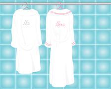 bath robes - stock illustration