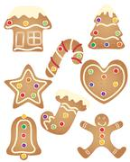 Gingerbread set Stock Illustration