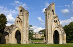 Glastonbury Abbey Stock Photos