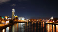 Moscow, Moskva river at night. Footage
