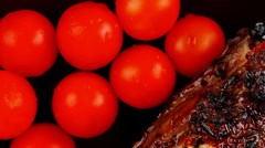 served ribs - stock footage