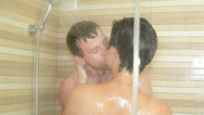Stock Video Footage of Couple kissing in shower