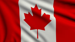 Flag of Canada looping Stock Footage