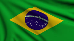 Flag of Brazil looping - stock footage