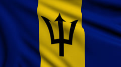 Flag of Barbados looping Stock Footage