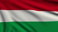 Flag of Hungary looping Stock Footage