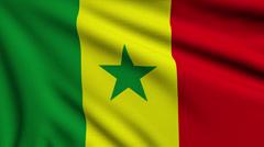Flag of Senegal looping Stock Footage