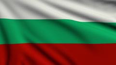 Flag of Bulgaria looping Stock Footage