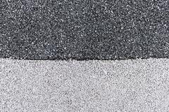 two tone asphalt - stock photo