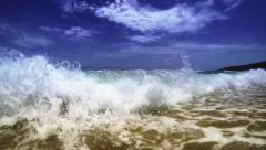 Exotic sand sea beach. Thailand Stock Footage
