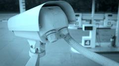 DOLLY: CCTV Camera Stock Footage