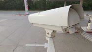 Stock Video Footage of Outdoor Surveillance System Security Camera