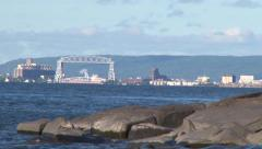 Summer Lake in Duluth Zoom In Stock Footage