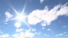 Sunny Blue Sky Time Lapse - stock footage