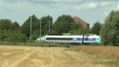 A high-speed TGV train in France. Stock Footage