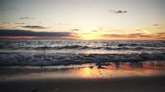Ocean Sunset Stock Footage