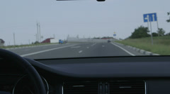 Driving car on highway - stock footage