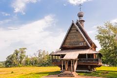Russian wooden church. suzdal. Stock Photos