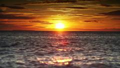 Golden Ocean Sunset. Stock Footage