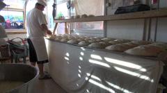 Georgian baker Stock Footage