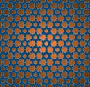Stock Illustration of pattern blue and orange gear wheels