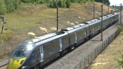A high-speed Javelin train in Kent, England. Stock Footage