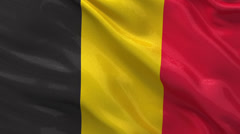 Flag of Belgium seamless loop Stock Footage